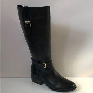 Ralph Lauren Monica Black Burnished Calf Boots new